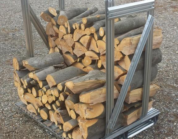 palette en acien pour le bois — steel pallet wood